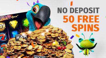 50 No Deposit Spins